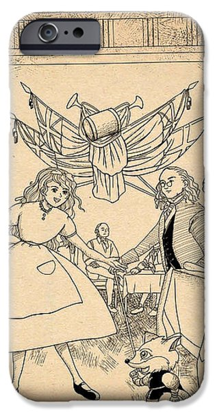 Tammy in Indpendence Hall iPhone Case by Reynold Jay