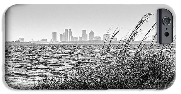 Sea Oats iPhone Cases - Tampa Across The Bay iPhone Case by Marvin Spates