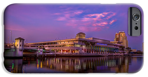 Meeting iPhone Cases - Tampa Convention Center at Dusk iPhone Case by Marvin Spates