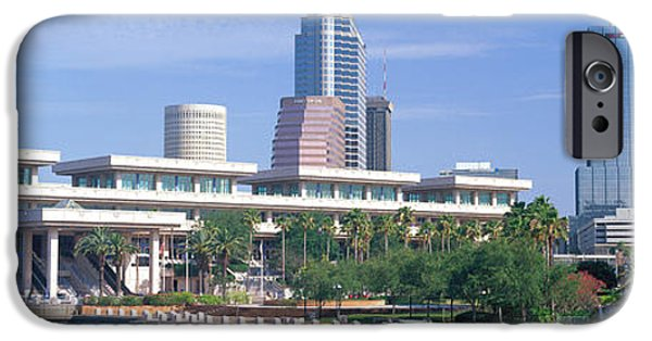 Commercial Photography iPhone Cases - Tampa Convention Center, Skyline iPhone Case by Panoramic Images