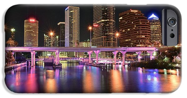 Inner World iPhone Cases - Tampa Lights iPhone Case by Frozen in Time Fine Art Photography