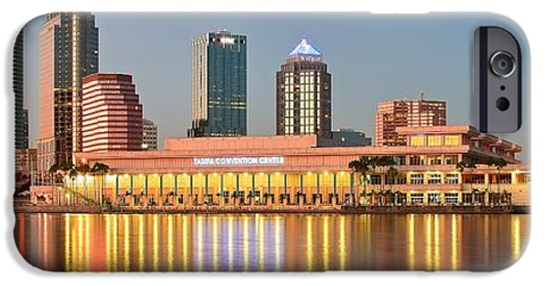 Inner World iPhone Cases - Tampa Panoramic View iPhone Case by Frozen in Time Fine Art Photography