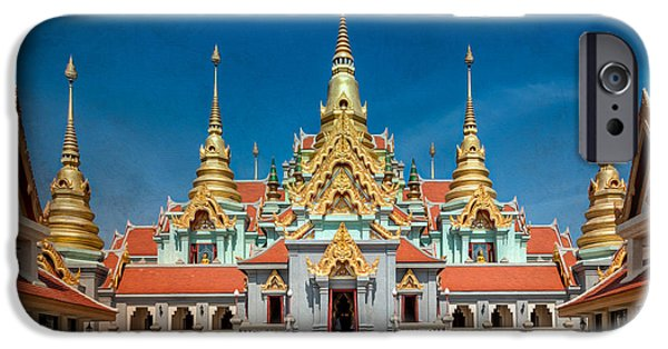 Buddhist iPhone Cases - Tang Sai Temple iPhone Case by Adrian Evans