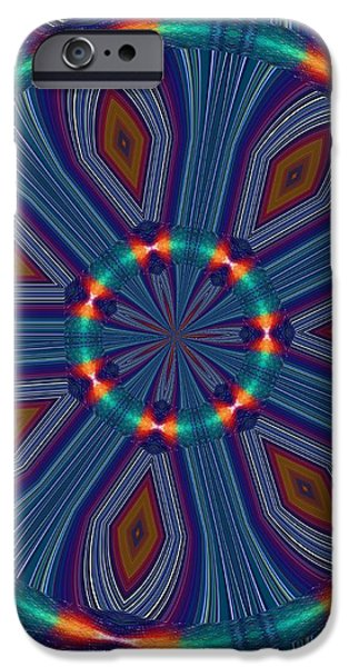 Tangerine and Turquoise Dream iPhone Case by Alec Drake
