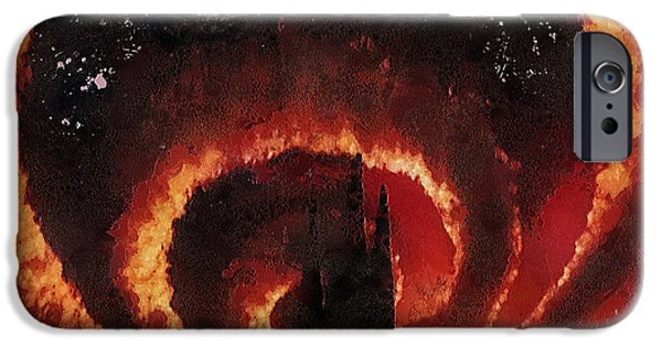 Tangerine Paintings iPhone Cases - Tangerine Circle iPhone Case by Mo T