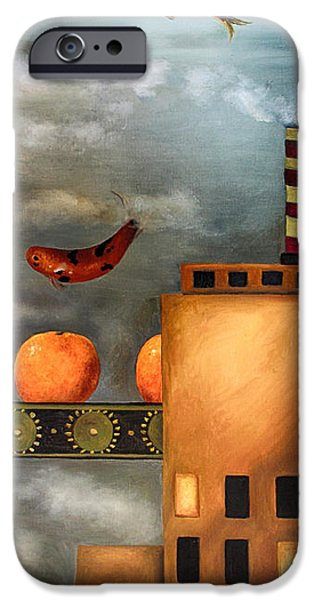 Tangerine Dream edit 2 iPhone Case by Leah Saulnier The Painting Maniac