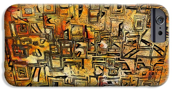 Abstractions iPhone Cases - Tangerine Dream iPhone Case by Jack Zulli