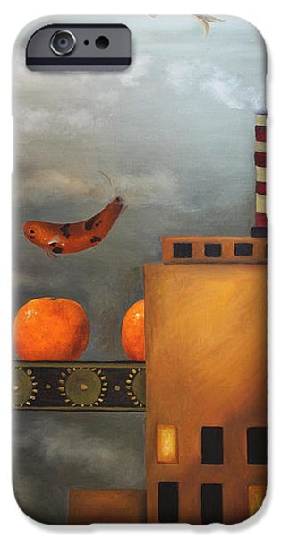Tangerine Dream iPhone Case by Leah Saulnier The Painting Maniac
