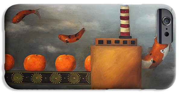 Tangerines Paintings iPhone Cases - Tangerine Dream iPhone Case by Leah Saulnier The Painting Maniac
