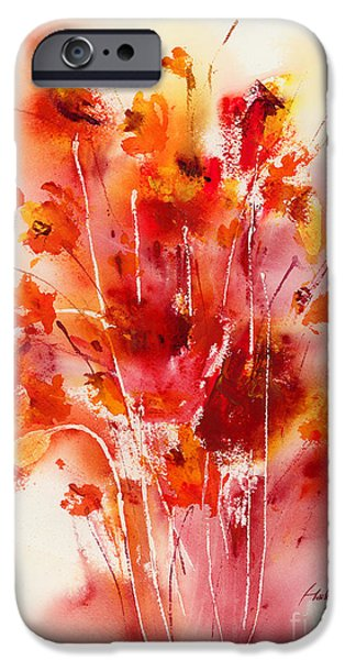 Tangerine Paintings iPhone Cases - Tangerine Tango iPhone Case by Hailey E Herrera