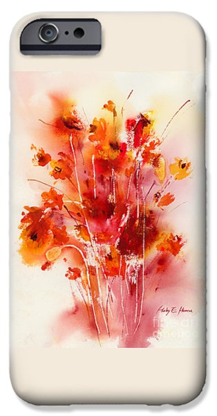 Flower Still Life Prints iPhone Cases - Tangerine Tango iPhone Case by Hailey E Herrera