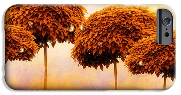 Beatles iPhone Cases - Tangerine Trees and Marmalade Skies iPhone Case by Mo T