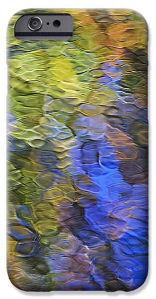 Tangerine Twist Mosaic Abstract Art iPhone Case by Christina Rollo