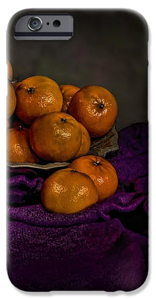 Tangerines in a Shell Platter iPhone Case by Leah McDaniel