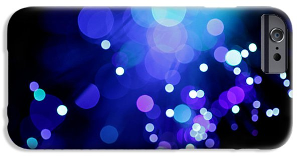 Abstract Digital Photographs iPhone Cases - Tangled up in Blue iPhone Case by Dazzle Zazz