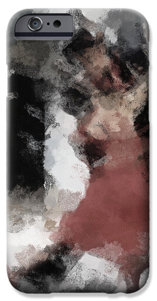Passion iPhone Cases - Tango 2 iPhone Case by Ayse Deniz