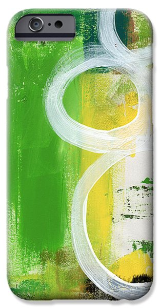 Contemporary Abstract iPhone Cases - Tango- Abstract Painting iPhone Case by Linda Woods