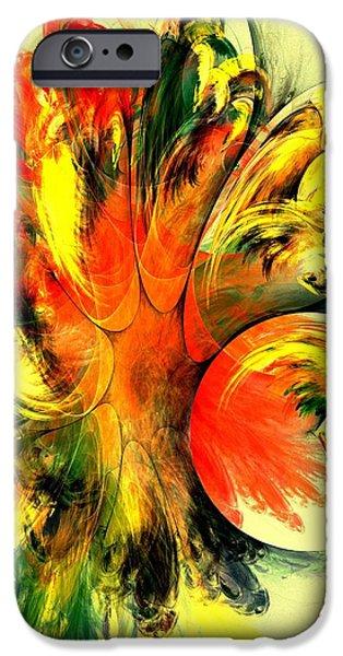 Yellow iPhone Cases - Tango iPhone Case by Anastasiya Malakhova