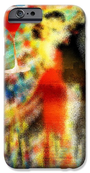 Tango Panting iPhone Cases - Tango As The Sunset iPhone Case by Kenal Louis
