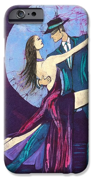 Couple Tapestries - Textiles iPhone Cases - Tango Dancers iPhone Case by Kay Shaffer