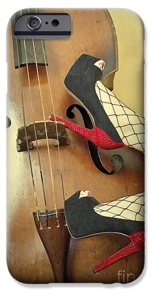 Seductive Photographs iPhone Cases - Tango For Strings iPhone Case by Evelina Kremsdorf