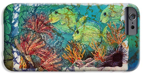 Ocean Tapestries - Textiles iPhone Cases - Tangs Trio iPhone Case by Sue Duda