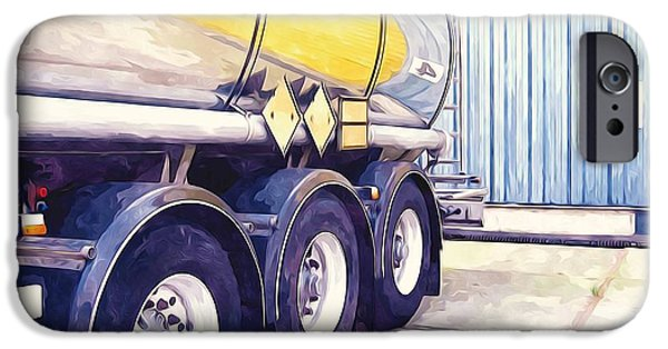 Asphalt Paintings iPhone Cases - Tanker iPhone Case by Lanjee Chee