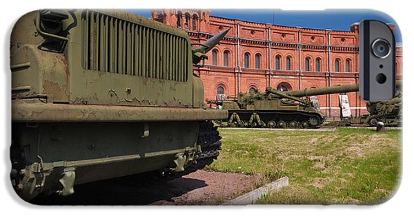 Artillery iPhone Cases - Tanks At Museum Of Artillery iPhone Case by Panoramic Images