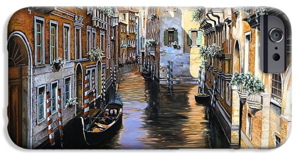 Venetian Canals iPhone Cases - Tanta Luce A Venezia iPhone Case by Guido Borelli