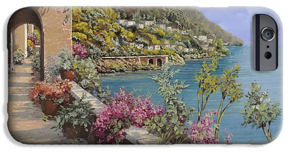Clear iPhone Cases - Tanti Fiori Sulla Terrazza iPhone Case by Guido Borelli