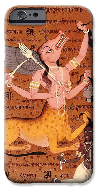 Tantrik Art iPhone Cases - Tantra Mantra Tantric Artwork Mysterious Painting Asia  iPhone Case by A K Mundhra