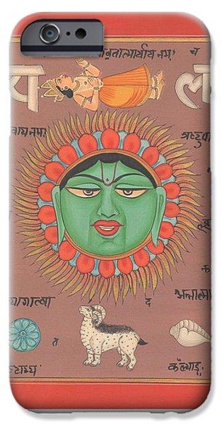 Tantrik Art iPhone Cases - Tantrik Tantric YantraTantra Artwork Asian Hindu Surya Sun Paper Painting iPhone Case by Richa  Maheshwari