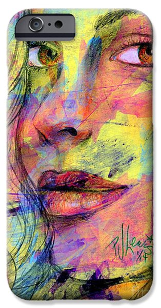 Abstract Fashion Designer Art iPhone Cases - Tanya iPhone Case by P J Lewis