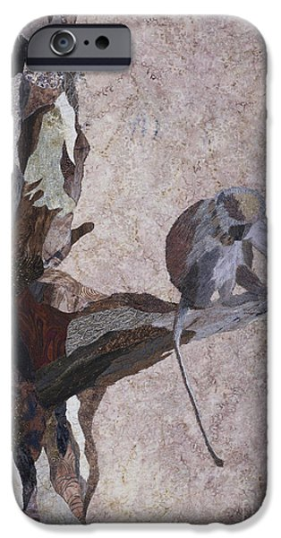 Animal Tapestries - Textiles iPhone Cases - Tanzanian Vervet Monkey iPhone Case by Patricia Gould