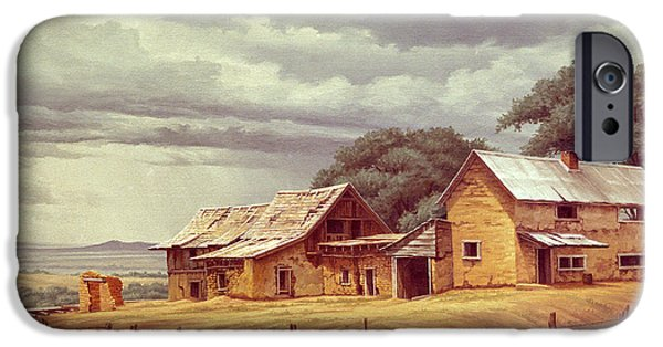 New Mexico iPhone Cases - Taos Homestead iPhone Case by Paul Krapf