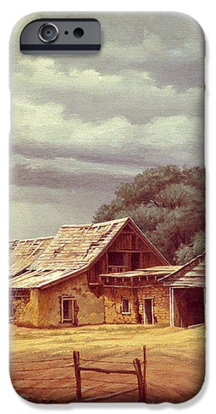 Taos Homestead iPhone Case by Paul Krapf