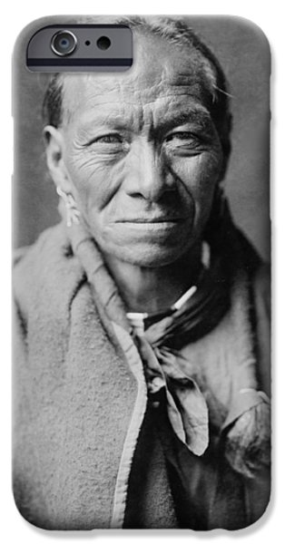 Taos Indian circa 1905 iPhone Case by Aged Pixel