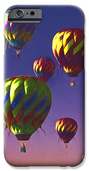 Hot Air Balloon Mixed Media iPhone Cases - Taosism iPhone Case by John Haldane