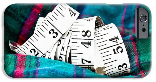 Apparel iPhone Cases - Tape measure iPhone Case by Tom Gowanlock