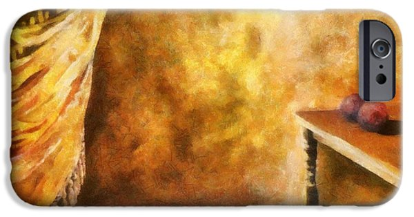 Interior Still Life Digital Art iPhone Cases - Tapestry iPhone Case by Michelle Calkins