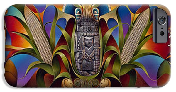 Deity iPhone Cases - Tapestry of Gods iPhone Case by Ricardo Chavez-Mendez