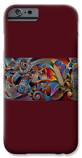 Deities iPhone Cases - Tapestry of Gods iPhone Case by Ricardo Chavez-Mendez