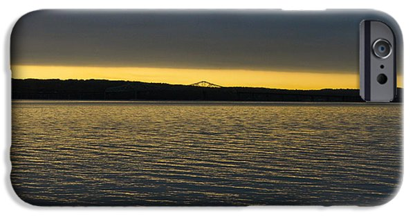 Hudson River iPhone Cases - Tappan Zee Bridge at Dawn iPhone Case by Andrew Barrett