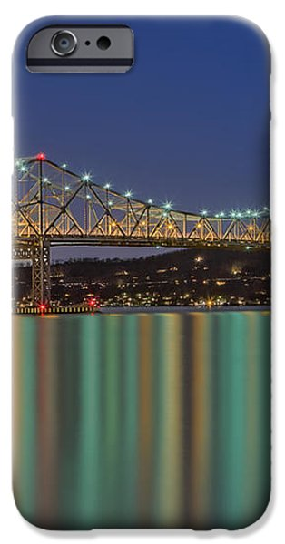 Tappan Zee Bridge Reflections iPhone Case by Susan Candelario