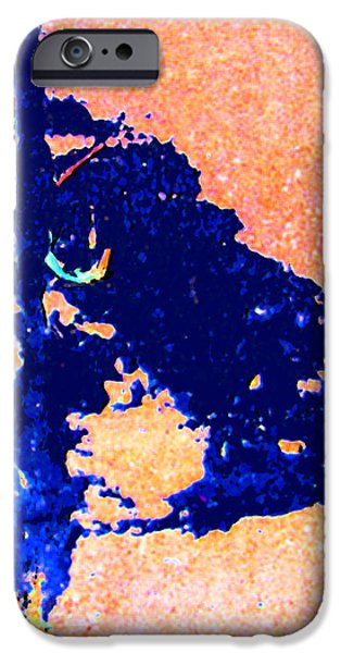 Abstractions Digital iPhone Cases - Tar Abstraction iPhone Case by John Lautermilch