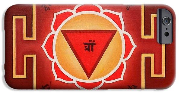 Rust Drawings iPhone Cases - Tara Yantra by Piitaa  iPhone Case by Piitaa - Sacred Art