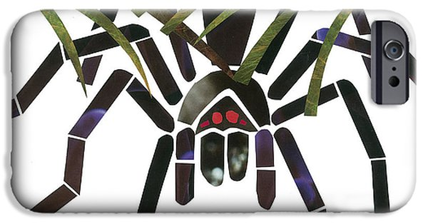 Invertebrates Mixed Media iPhone Cases - Tarantula iPhone Case by Earl ContehMorgan