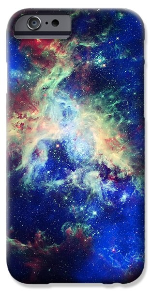 Tarantula Nebula 4 iPhone Case by The  Vault - Jennifer Rondinelli Reilly