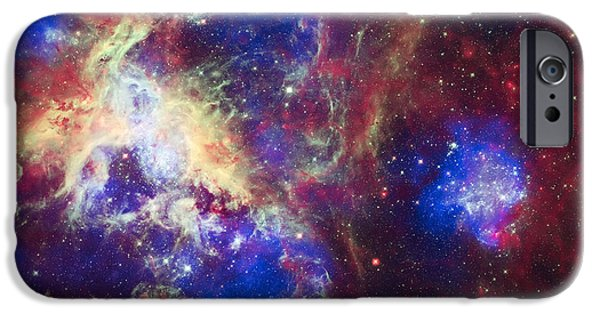 The Heavens iPhone Cases - Tarantula Nebula 6  iPhone Case by The  Vault - Jennifer Rondinelli Reilly