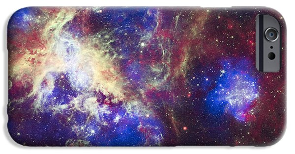 Cosmic iPhone Cases - Tarantula Nebula iPhone Case by Adam Romanowicz